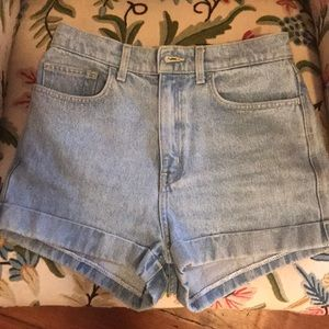 AA denim shorts